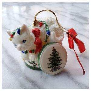 Spode Christmas Tree Signature Kitten Ornament